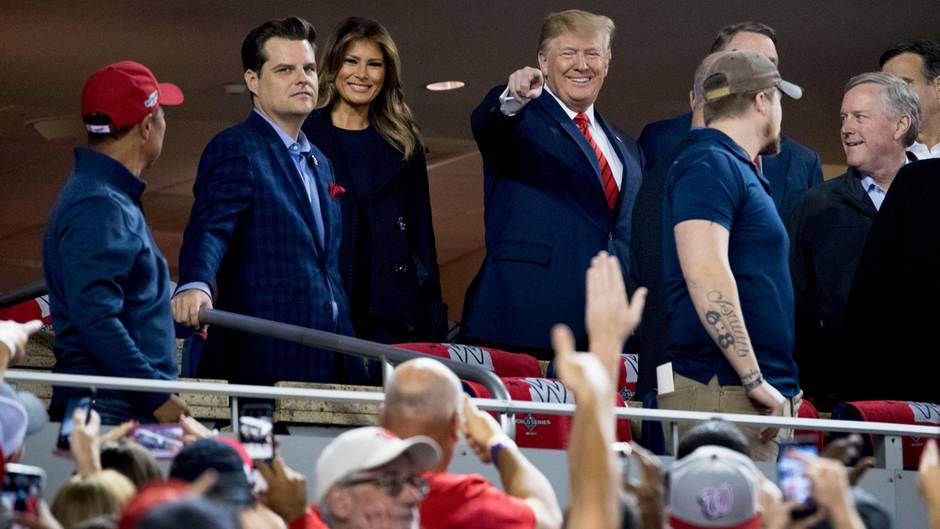 Donald Trump beim Baseball