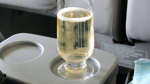 Champagner in Flieger