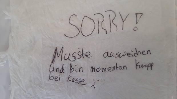 Nachrichten aus Deutschland: Zettel eines Autofahrers