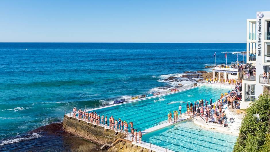"""Am 1929 gegründeten """"Bondi Icebergs Club"""" bei Sydney in Australien"""