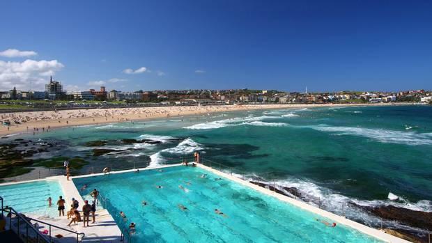 Ocean Pool direkt am Meer: am Bondi Beach