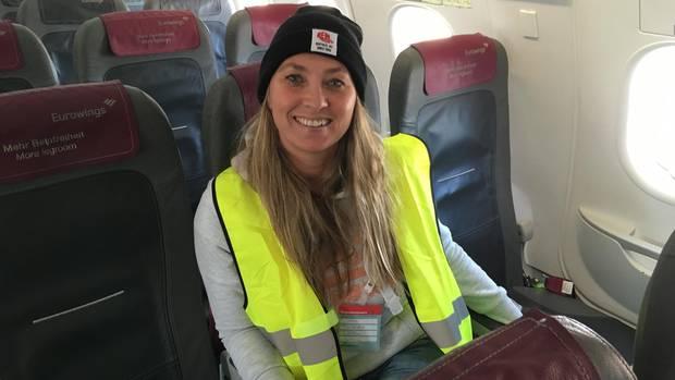Stern-Reporterin Jessica Kröll in einem A320.