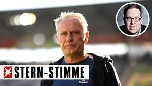 Christian Streich, Trainer des SC Freiburg, feiert große Erfolge mit seinem Verein
