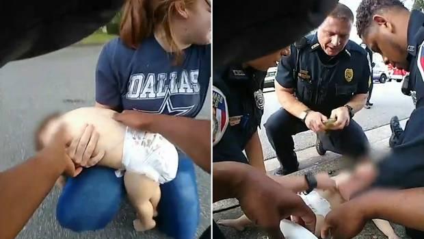 Die Polizei in Kissimmee rettet ein Baby vor dem Ersticken.