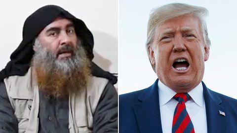 """""""Unglaublicher Erfolg"""": US-Präsident Donald Trump (r.) über den Tod von IS-AnführerAbu Bakr al-Bagdadi"""