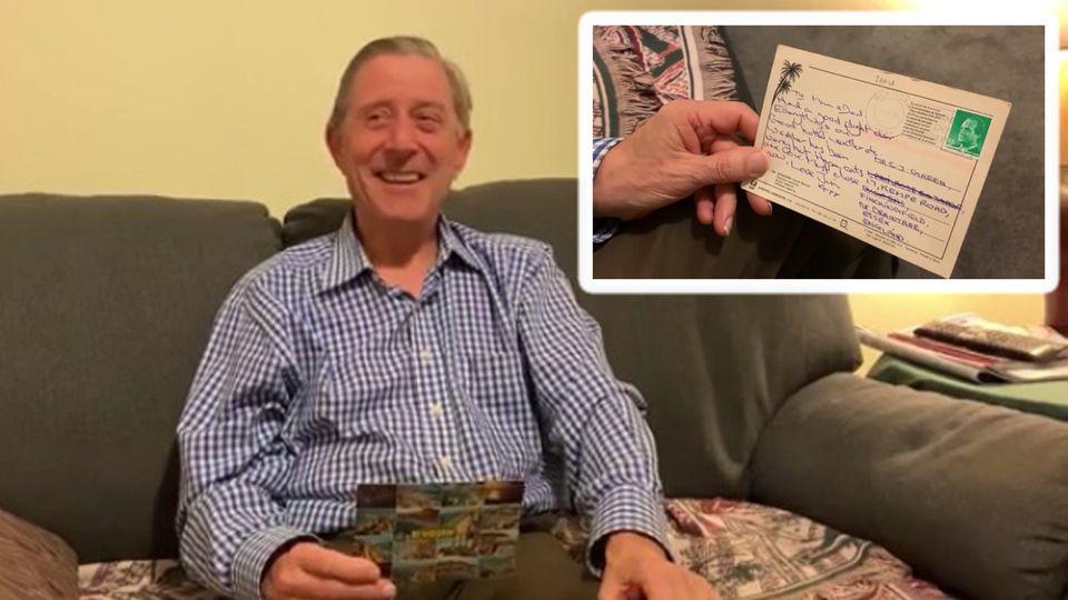 Jim Green findet ein Überraschung in der Post: Eine Postkarte an seine Eltern aus dem Jahr 1991