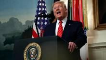 Vor Stolz und Arroganz strotzend: Donald Trump bei der Verkündung von Al-Bagdadis Tod