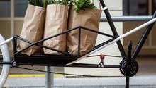 Das Rad kann bis zu 60 KilogrammGepäck mitnhemen.