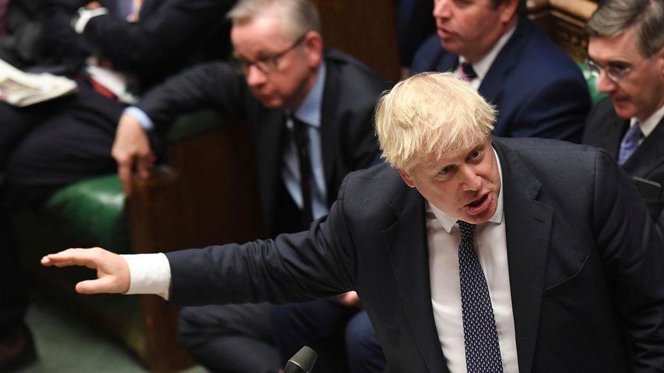 Großbritanniens Premierminister Boris Johnson im britischen Unterhaus