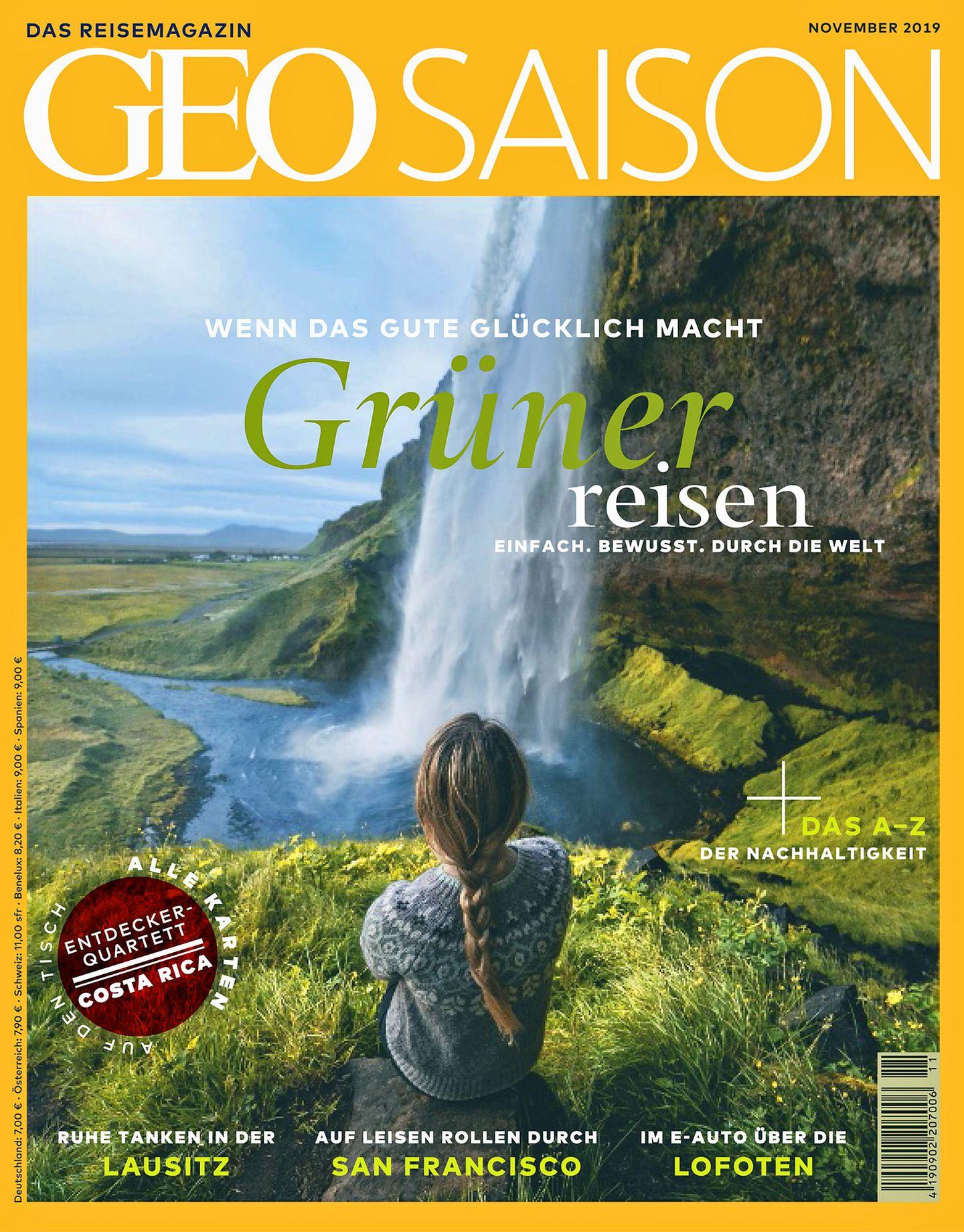"""Aus """"Geo Saison"""", Heft 11/2019. Dort finden Sie das vollständige Alphabet. Ab sofort am Kiosk zum Preis von 7 Euround hier."""