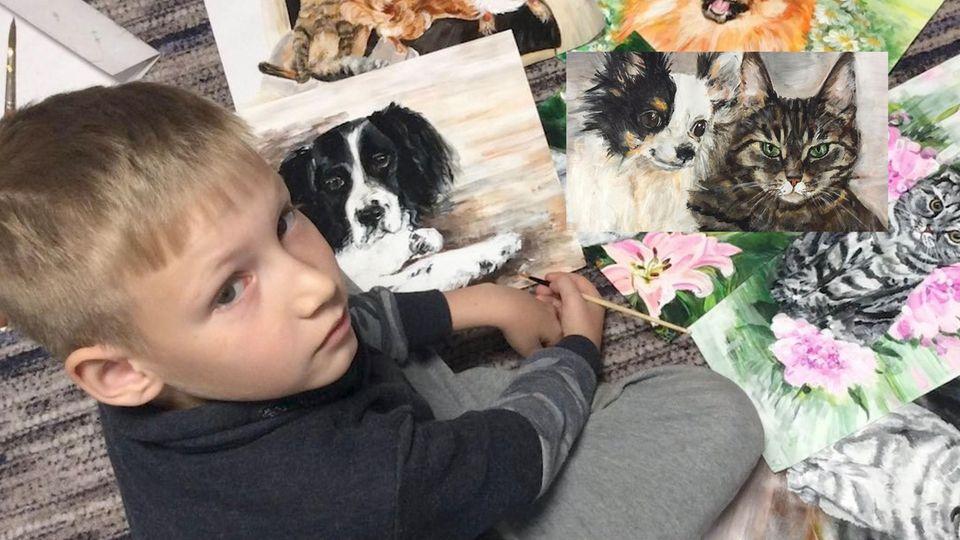 Dieser 9-jährige Junge malt unglaubliche Bilder