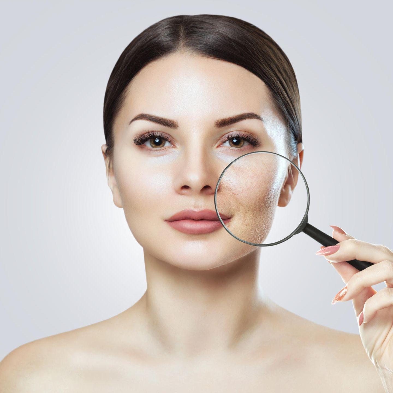Make-up zum Abnehmen großer Wangen
