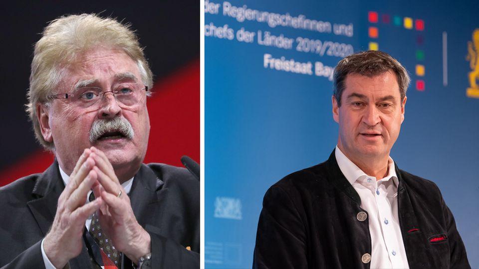 Elmar Brok (CDU, l.) und Markus Söder (CSU)