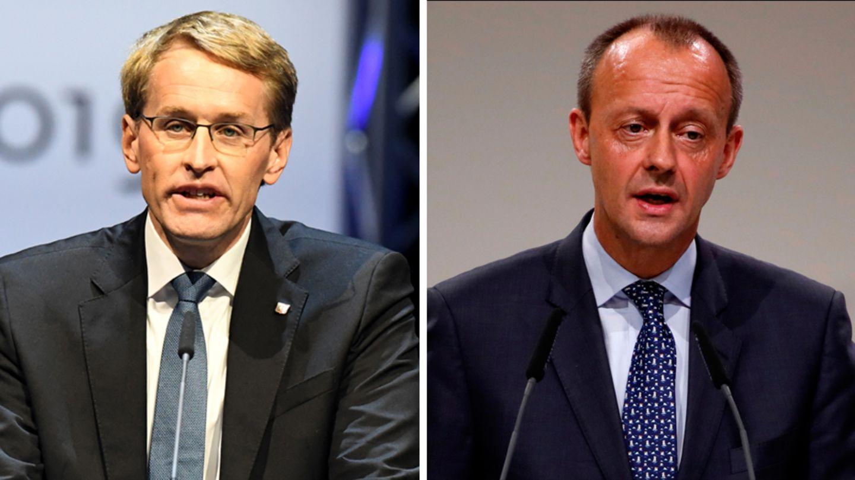CDU-Politiker Daniel Günther und Friedrich Merz