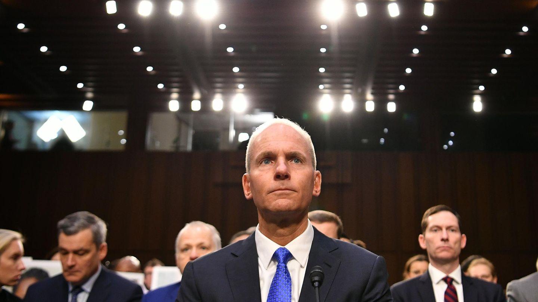 Muss zwei Tage Rede und Antwort stehen: Boeing-ChefDennis Muilenburg beim Hearing vor den Abgeordneten des Handelsausschusses im US-Senat