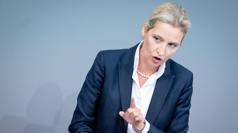 Alice Weidel, Fraktionsvorsitzende der AfD, spricht im Bundestag