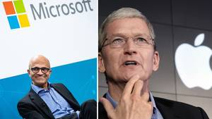 Microsoft-Chef Satya Nadella und Apple-CEO Tim Cook