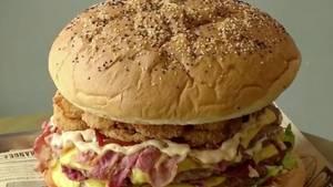 Laut Betreiber ist der Burger der größte der Welt