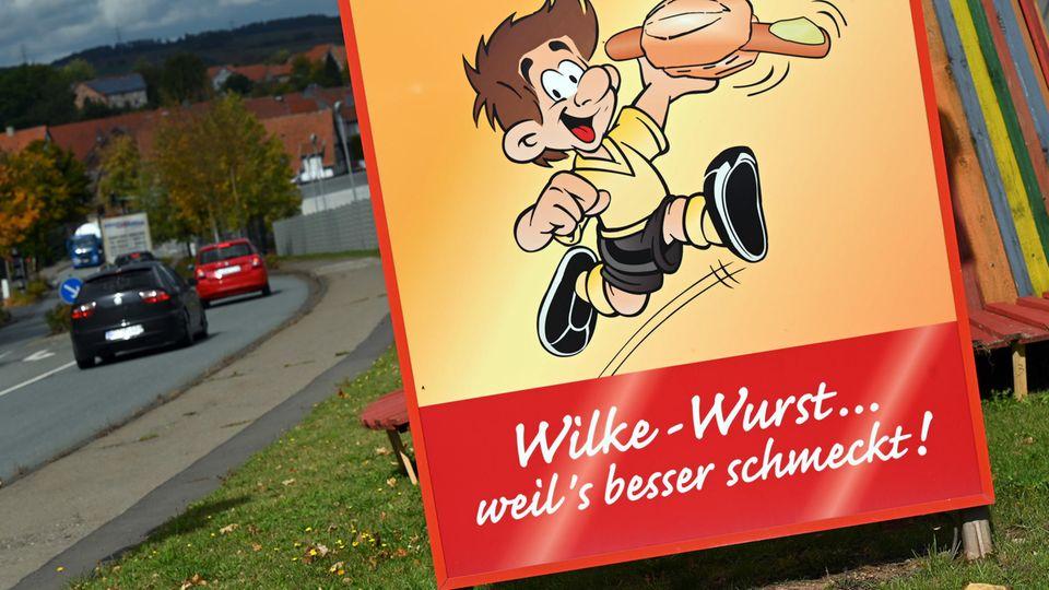 Wilke-Wurst Werbeplakat