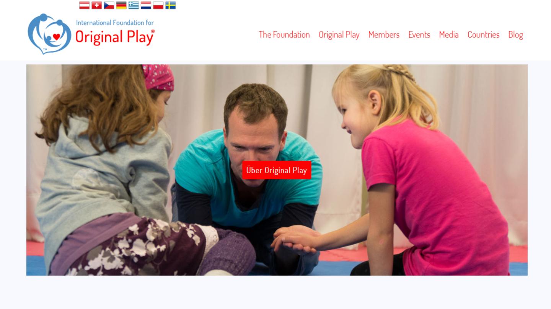 """Auf der Webseite von """"Original Play"""" können sich Interessierte zu Kursen anmelden"""