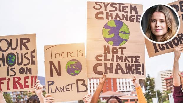 Demonstrationsplakate zum Klimawandel