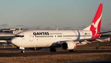 Eine Boeing 737-800 NG der australischen Airline Qantas, die 33 Maschinen diesen Typs überprüft