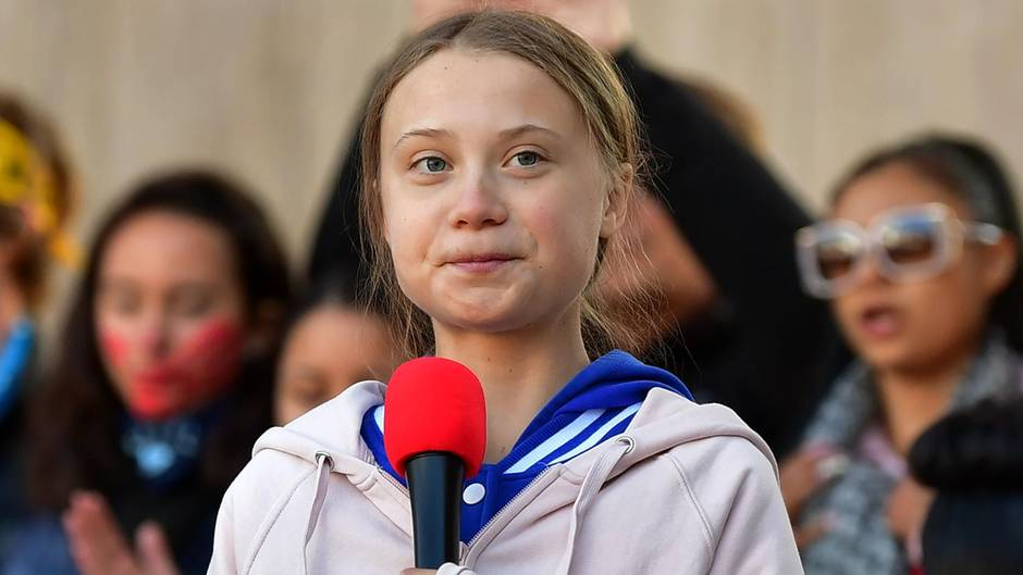 "Greta Thunberg bei einem ""Fridays for Future""-Protest in Denver"