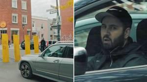Collage: Auto und Autofahrer