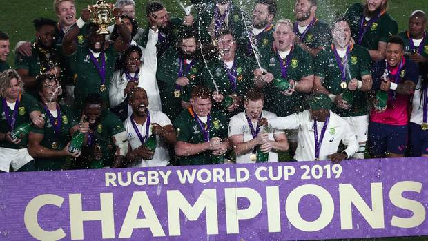 The rugby team from South Africa is happy about another world championship title