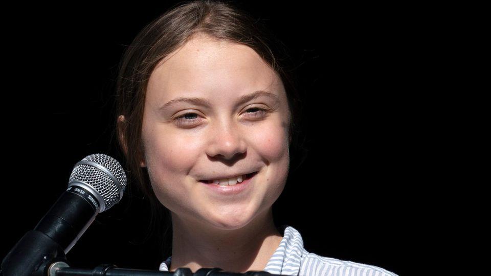 Greta Thunberg erhält vor dem Klimagipfel Willkommensgruß aus Spanien
