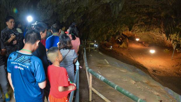 Die Unglücks-Höhle in Thailand öffnete am Freitag für Besucher