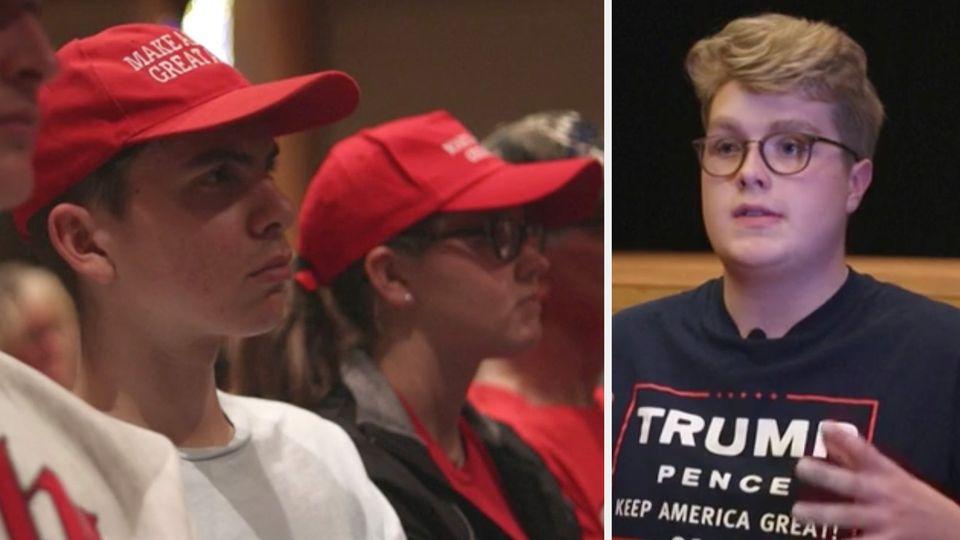 Viele der Teenager bei dieser Veranstaltung in Ohio sind sich schon sicher, wen sie 2020 wählen werden: Donald Trump.