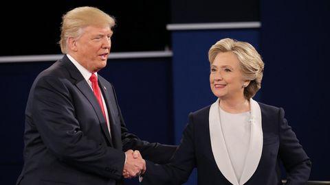 Donald Trump (l.) und Hillary Clinton (r.)