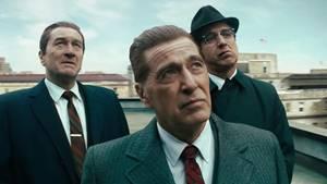 """Der Netflix-Film """"The Irishman"""" ist eigentlich 3,5 Stunden lang - da ist die Versuchung groß, die Sache etwas schneller zu Ende zu bringen."""