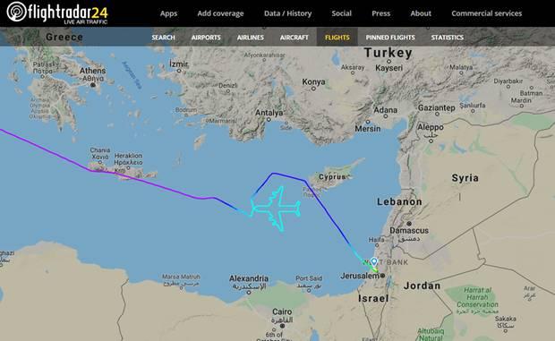 Das südwestlich von Zypern erzeugte Bild von LY1747