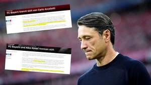 Niko Kovac; Pressemitteilungen des FC Bayern München