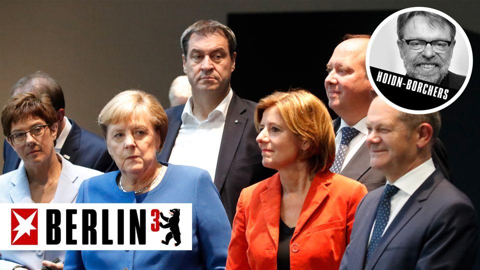Die Parteispitzen der Großen Koalition