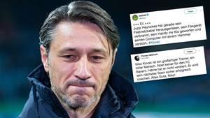 Collage: Niko Kovac und Kommentare von Twitter