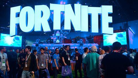 Stand des Survival-Spiels Fortnite auf der Spielemesse E3