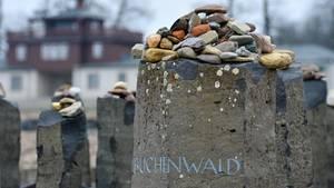 Gedenkstein im ehemaligen KZ Buchenwald