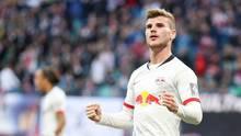 Timo Werner jubelt über einen seiner drei Treffer im Spiel gegen Mainz 05