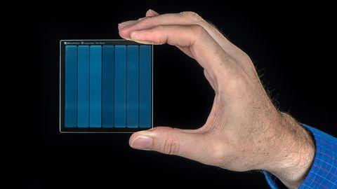 Microsofts Projekt Silica brannte einen Film auf eine Glas-Festplatte