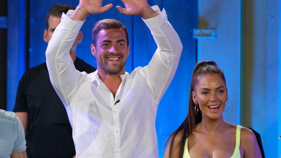 """Tobi Wegener und Janine Pink beim """"Promi Big Brother""""-Finale"""