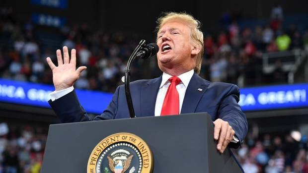 Donald Trump bei einer Rede in Kentucky