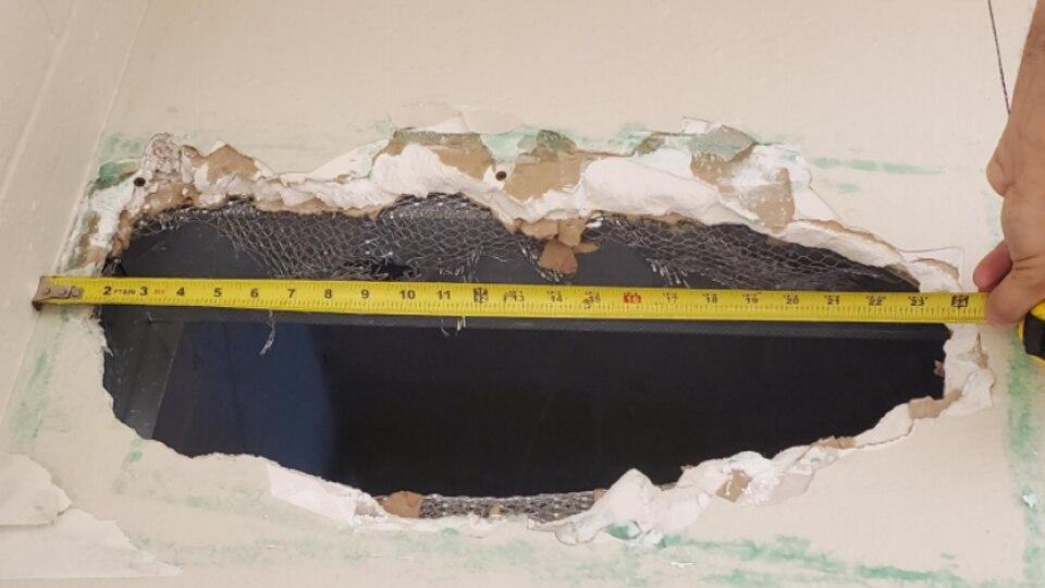 Flucht aus 55 Zentimeter-Loch