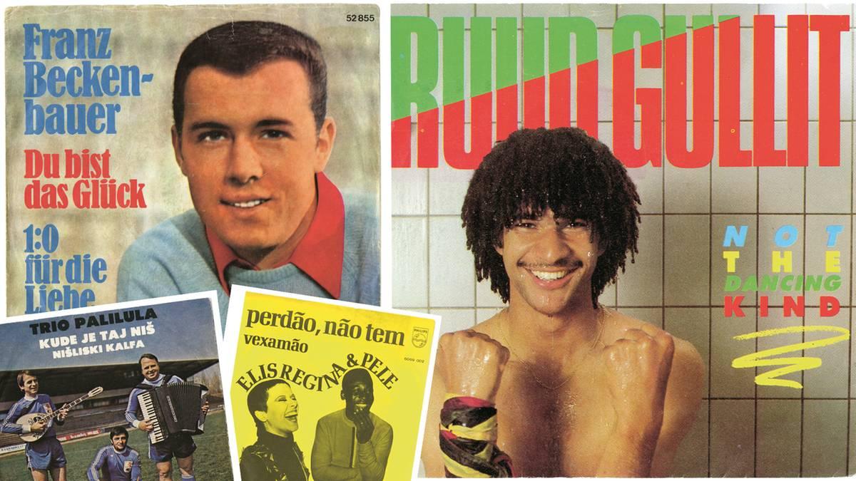 """Bildband """"Football-Disco"""": Die kuriosen Cover singender Fußballer und ihrer Fans"""