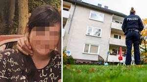 Festgenommene 15-Jährige; Polizeibeamtin am Tatort in Detmold