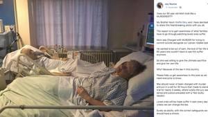 Marvis und Dennis Ecclestone liegen in ihren Krankenbetten