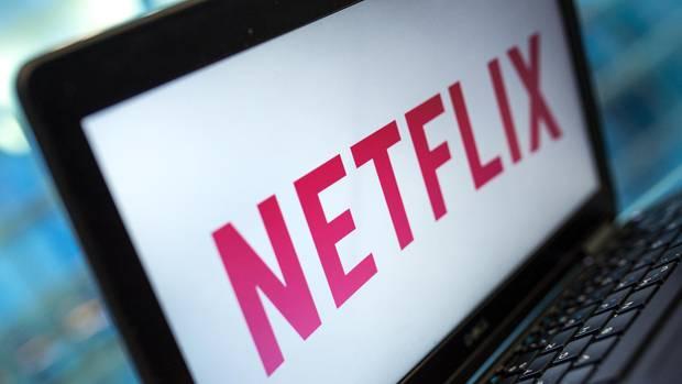 Laptop mit Netflix Logo