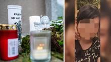 Kerzen und Blumen am Tatort in Detmold; 15-jährige Verdcächtige